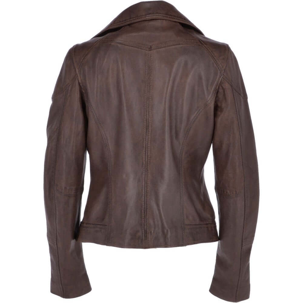 latest design cheap sale reasonable price Grany Women's Brown Vintage Leather Jacket - Jasir Leathers