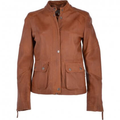 Heny Women's Brown Vintage Leather Jacket