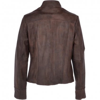 Krey Women's Brown Vintage Leather Jacket