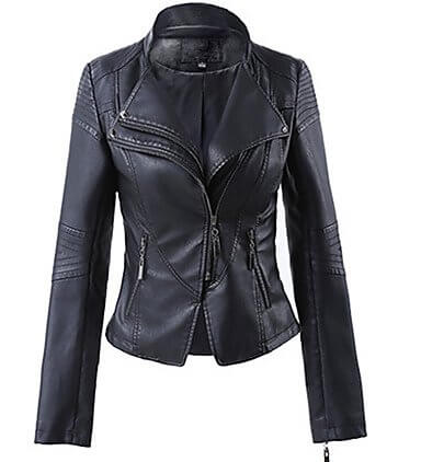 Alley Women's Black Leather Vintage Jacket